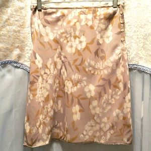 LAUNDRY BY SHELLI SEAGAL FLORAL SKIRT SZ 4